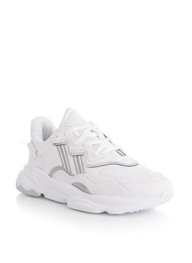 Tonny Black Beyaz Cilt Unısex Spor Ayakkabı Tb248  Beyaz
